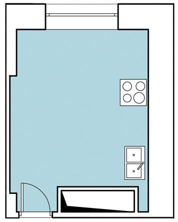 Достоинство двухкомнатной квартиры, находящейся в монолитно-кирпичном здании, — в отсутствии внутренней капитальной стены между кухней и одной из жилых комнат. Граница между ними обозначе...
