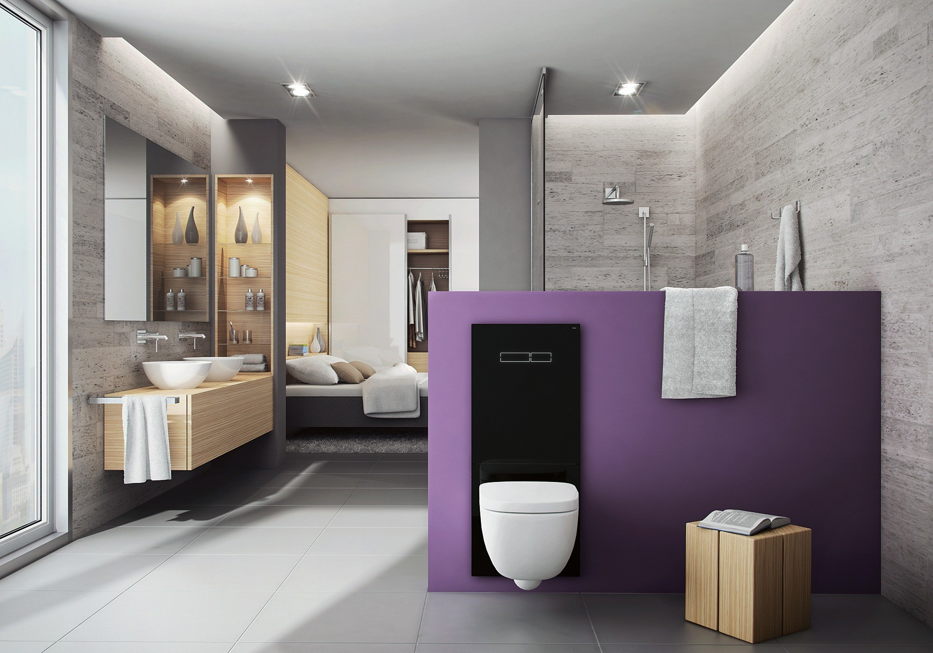Ультратонкий WC-терминал TECElux, встр&#107...