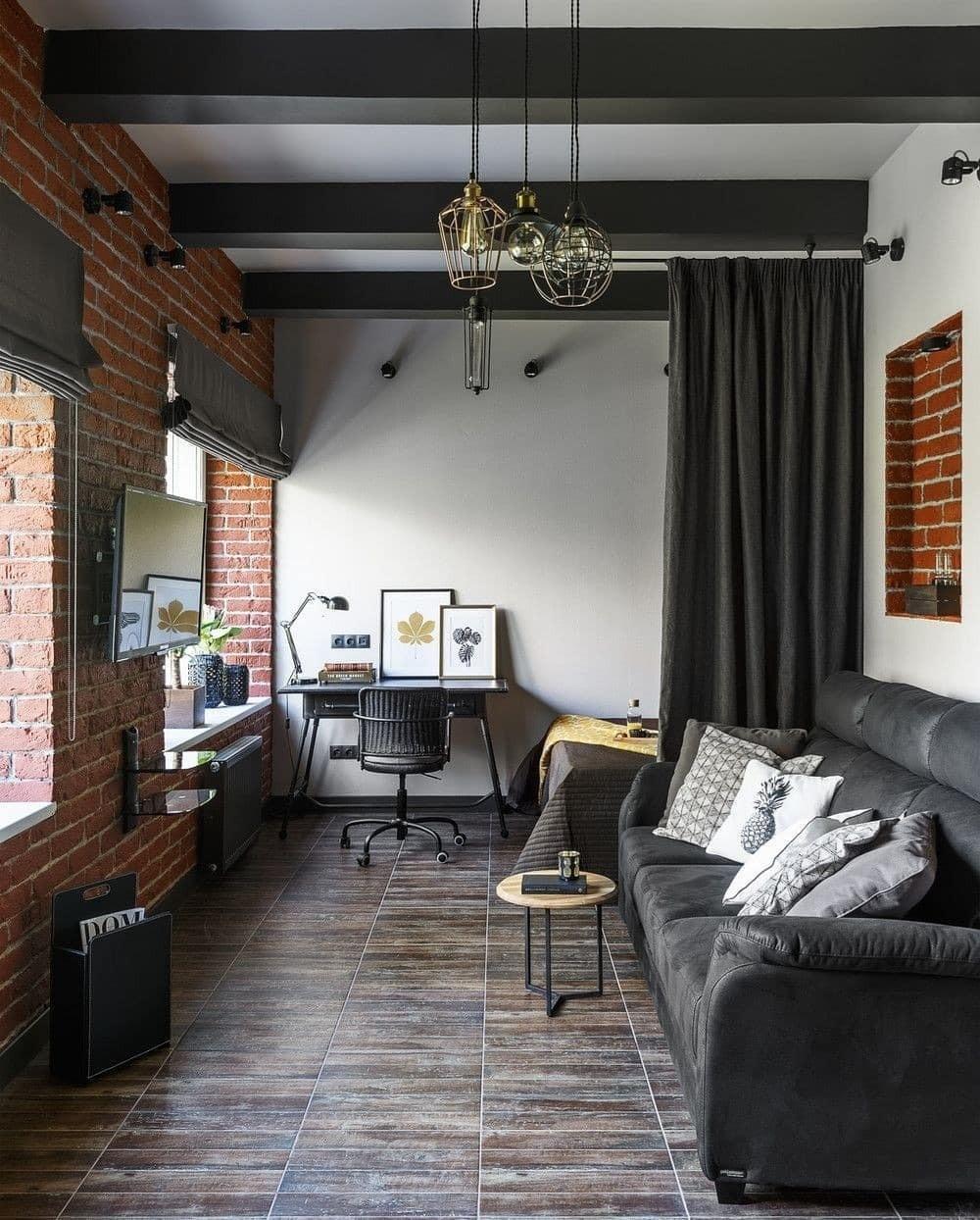 Кирпичная стена в интерьере: 70+ стильных идей