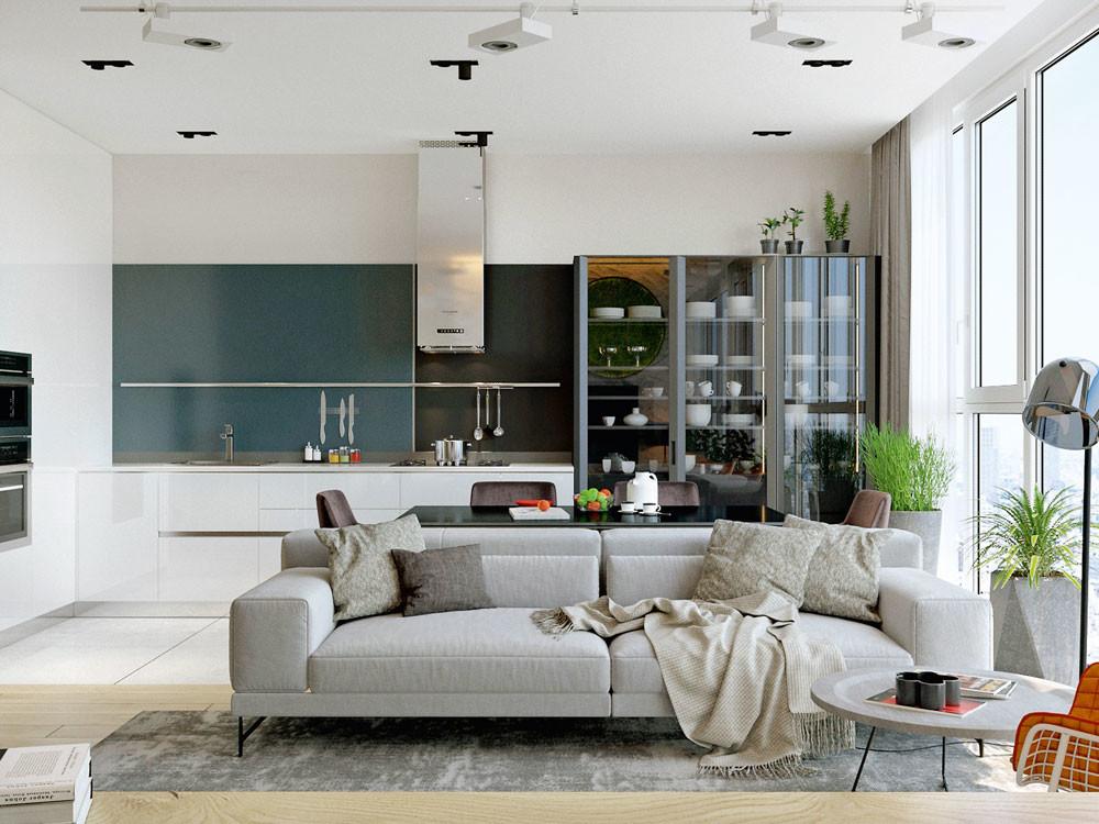 Современный и лаконичный дизайн квартиры: грамотно организованное пространство для мужчины