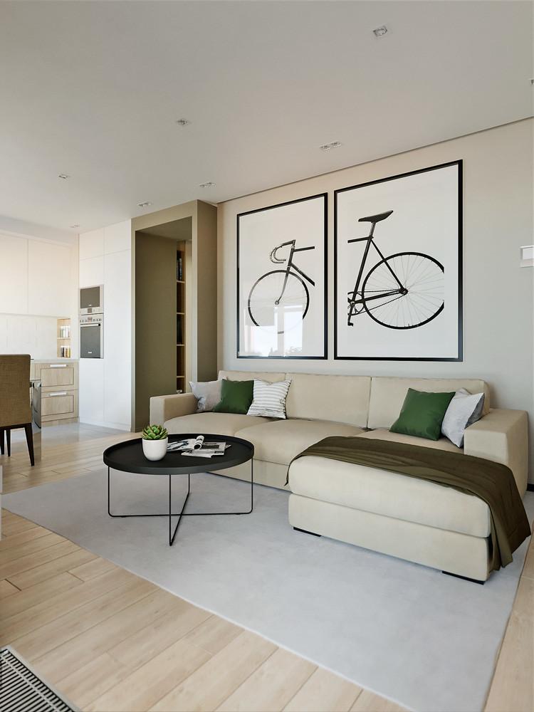 Современный дизайн двушки: светлая квартира для работы и отдыха