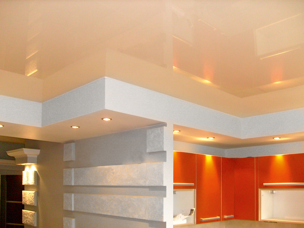 Гипсокартонный короб на потолке: как его смонтировать и оснастить светильниками