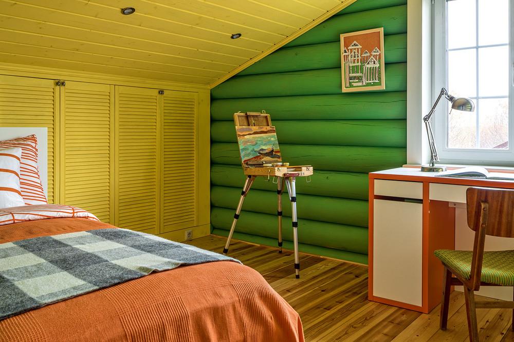 Креативный деревянный дом для творческой семьи