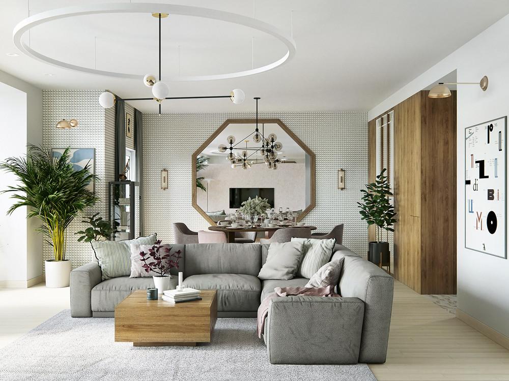 Дизайн четырёхкомнатной квартиры с сауной и чилаут-зоной