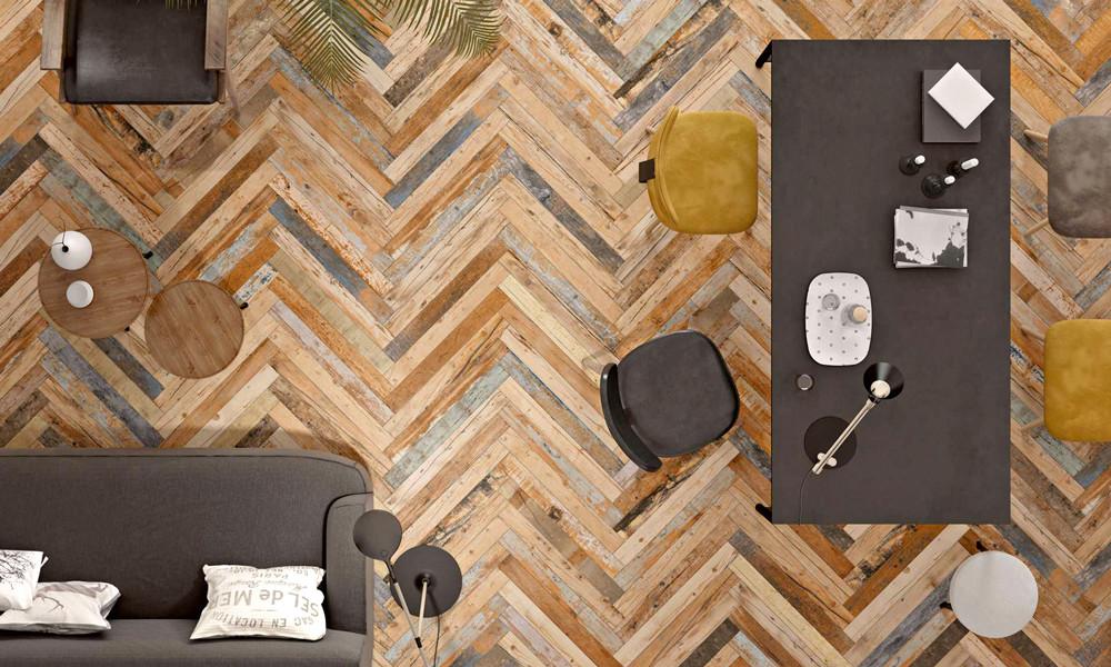 Керамическая плитка под дерево для разных комнат