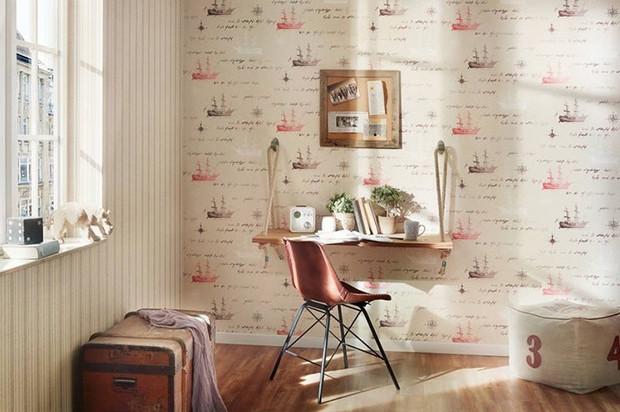 Интерьер маленькой комнаты с обоями: 25 очаровательных примеров