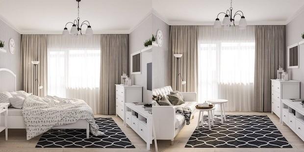 Кровать в однушке: аргументы за и против и 5 вариантов размещения