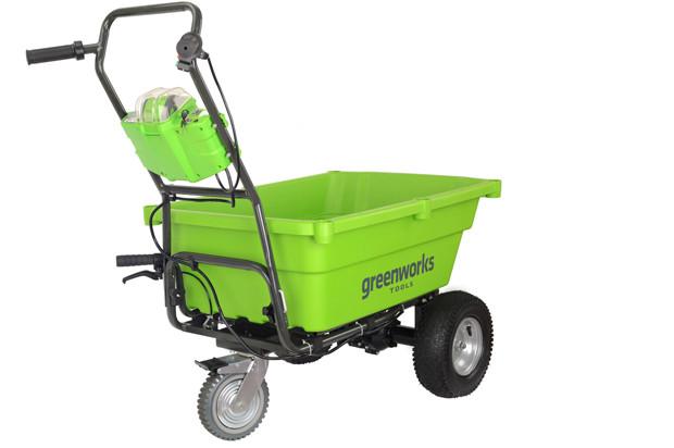 Компания Greenworks создала самодвижущуюся садовую тележку