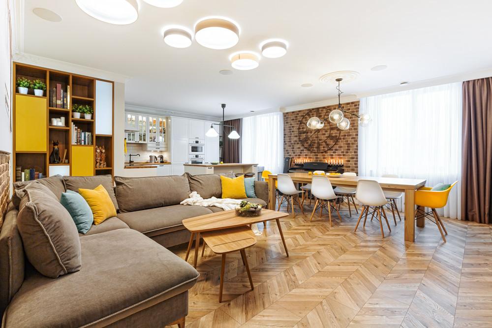 Квартира в стиле хюгге с мебелью из ИКЕА