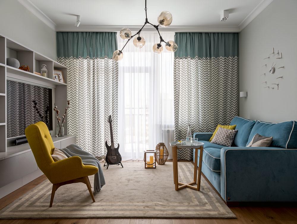 3-комнатная квартира с элементами 3 разных современных стилей