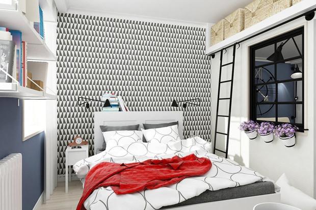 Дизайн маленькой спальни: 9 классных идей для комнаты до 9 кв. метров