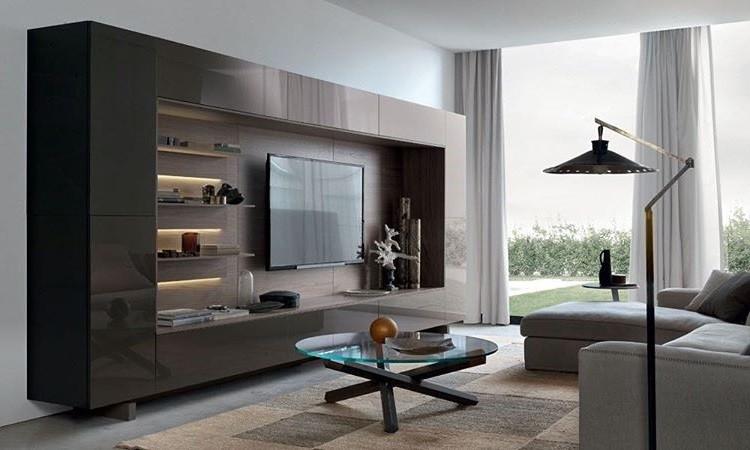 Стенки под телевизор в современном стиле: выбираем лучшую модель для интерьера