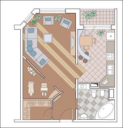 Однокомнатная квартира в доме серии П55М: Личный тренажерный зал