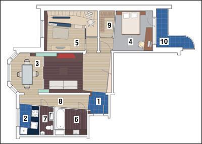 Трёхкомнатная квартира в доме серии П-3М: Стремление к равновесию