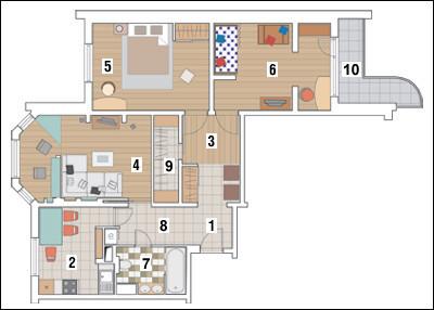 Трёхкомнатная квартира в доме серии П-3М: На все случаи жизни