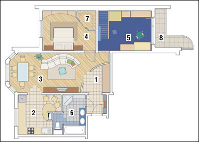 Трёхкомнатная квартира в доме серии П-3М: В кругу семьи