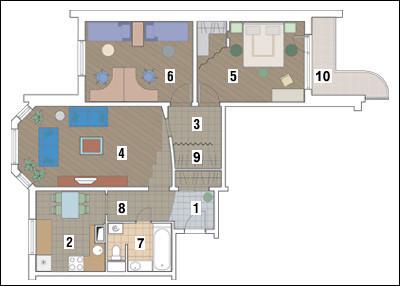 Трёхкомнатная квартира в доме серии П-3М: Радость жизни