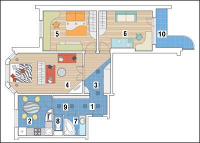 Трёхкомнатная квартира в доме серии П-3М: В полете времени