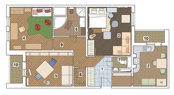 Трехкомнатная квартира в доме серии ГМС-1: Кантри по-городскому