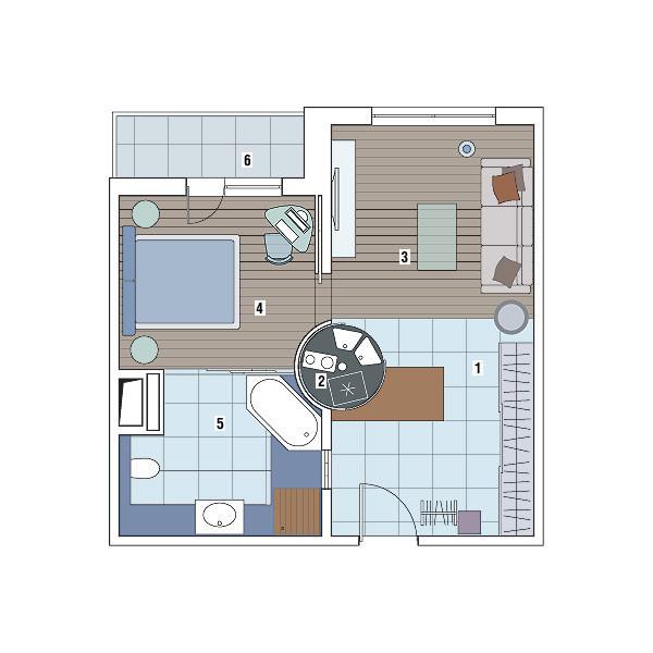 Однокомнатная квартира в доме серии П-3М: Огни ночного города