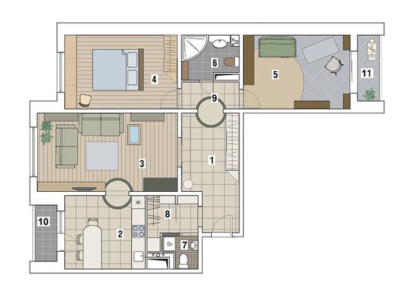 Трехкомнатная квартира в доме серии П-3М: Естественность и поэзия