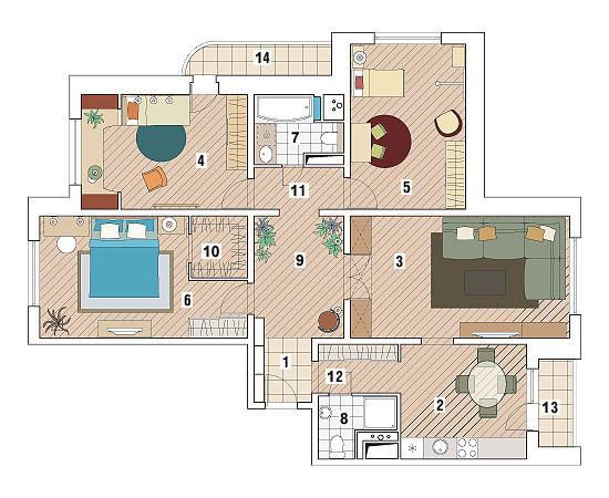 Четырехкомнатная квартира в доме серии П-3М: Исполнение желаний