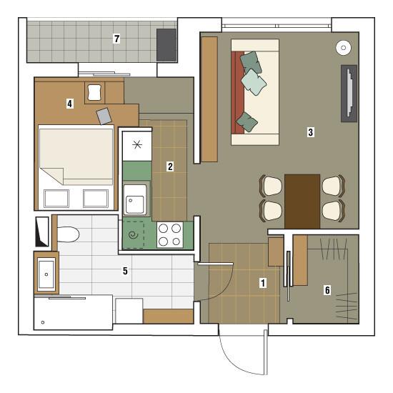 Однокомнатная квартира в доме серии П-3М: Городской ковчег