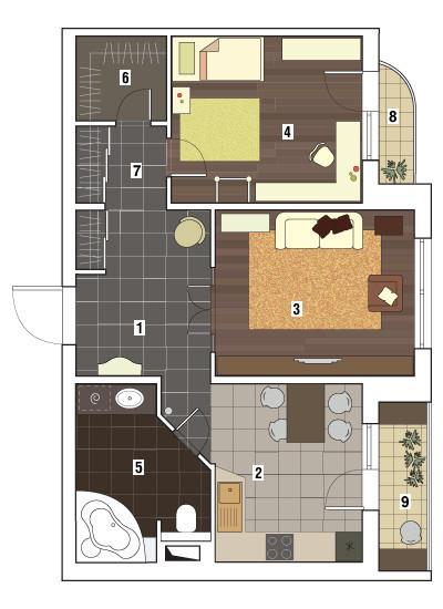 Двухкомнатная квартира в доме серии П-3М: Блестящие вещи