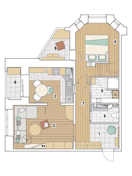 Двухкомнатная квартира в доме серии И-79-99: Березовая роща
