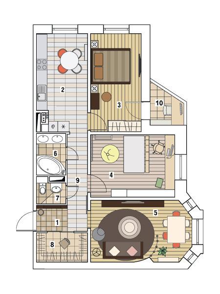 Трехкомнатная квартира в доме серии И-79-99: Скульптура будней