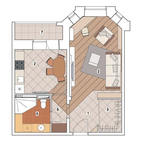 Однокомнатная квартира в доме серии И-79-99: Обитель конструктивистов