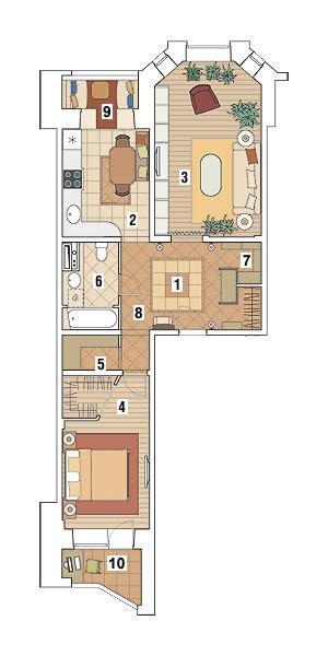 Двухкомнатная квартира в доме серии И-79-99: Городской прованс