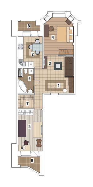 Двухкомнатная квартира в доме серии И-79-99: Неоновый мир