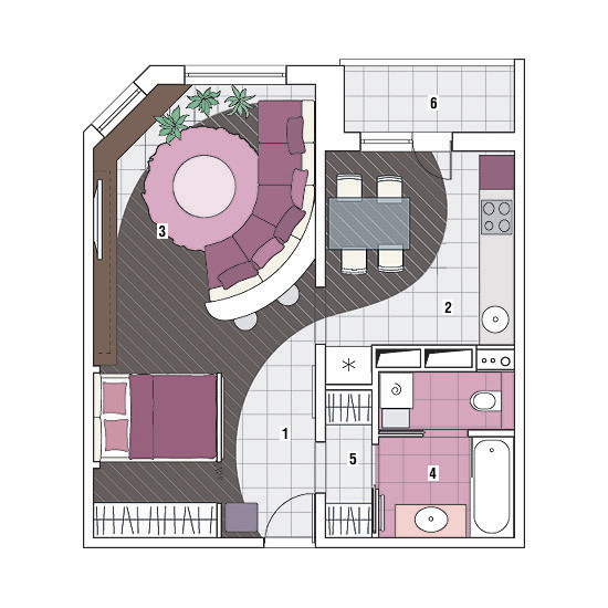 Однокомнатная квартира в доме серии МПСМ: Нетипичная типовушка