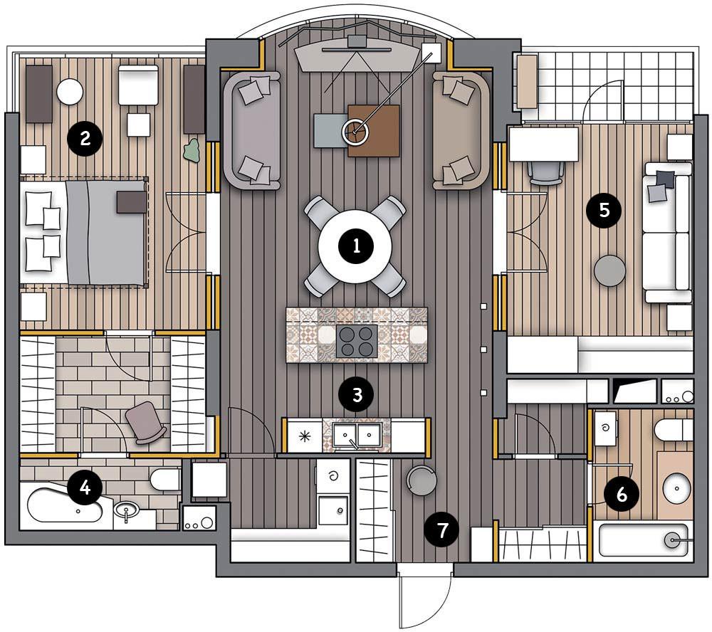 Лофтовая эстетика и элементы индастриал в интерьере