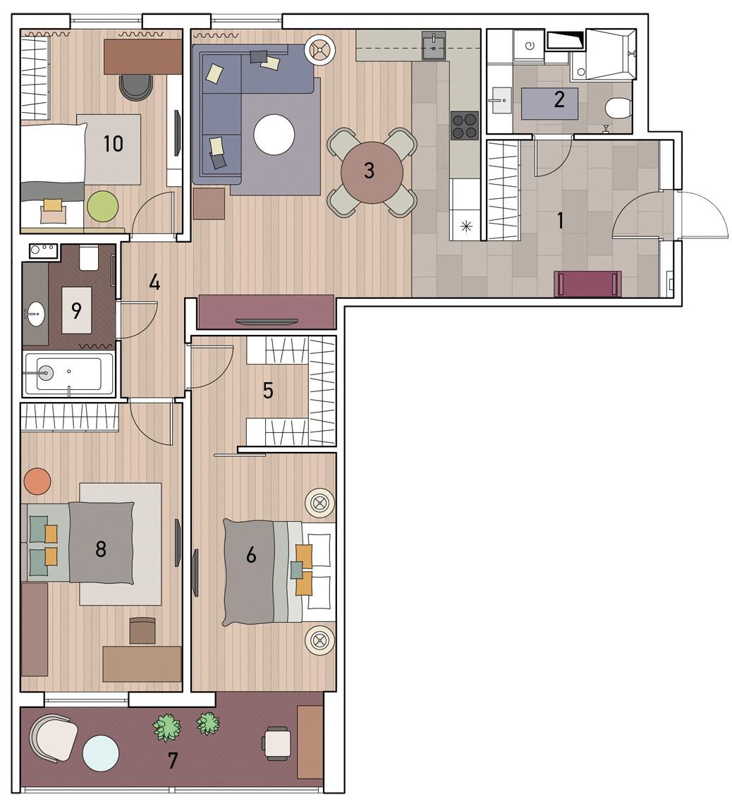 Как расширить узкие комнаты: интерьер квартиры, в котором победило пространство