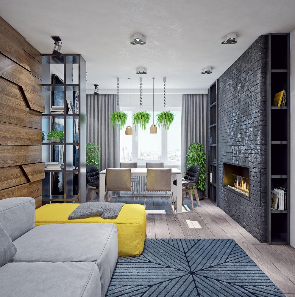 Стиль лофт в интерьере типовой квартиры