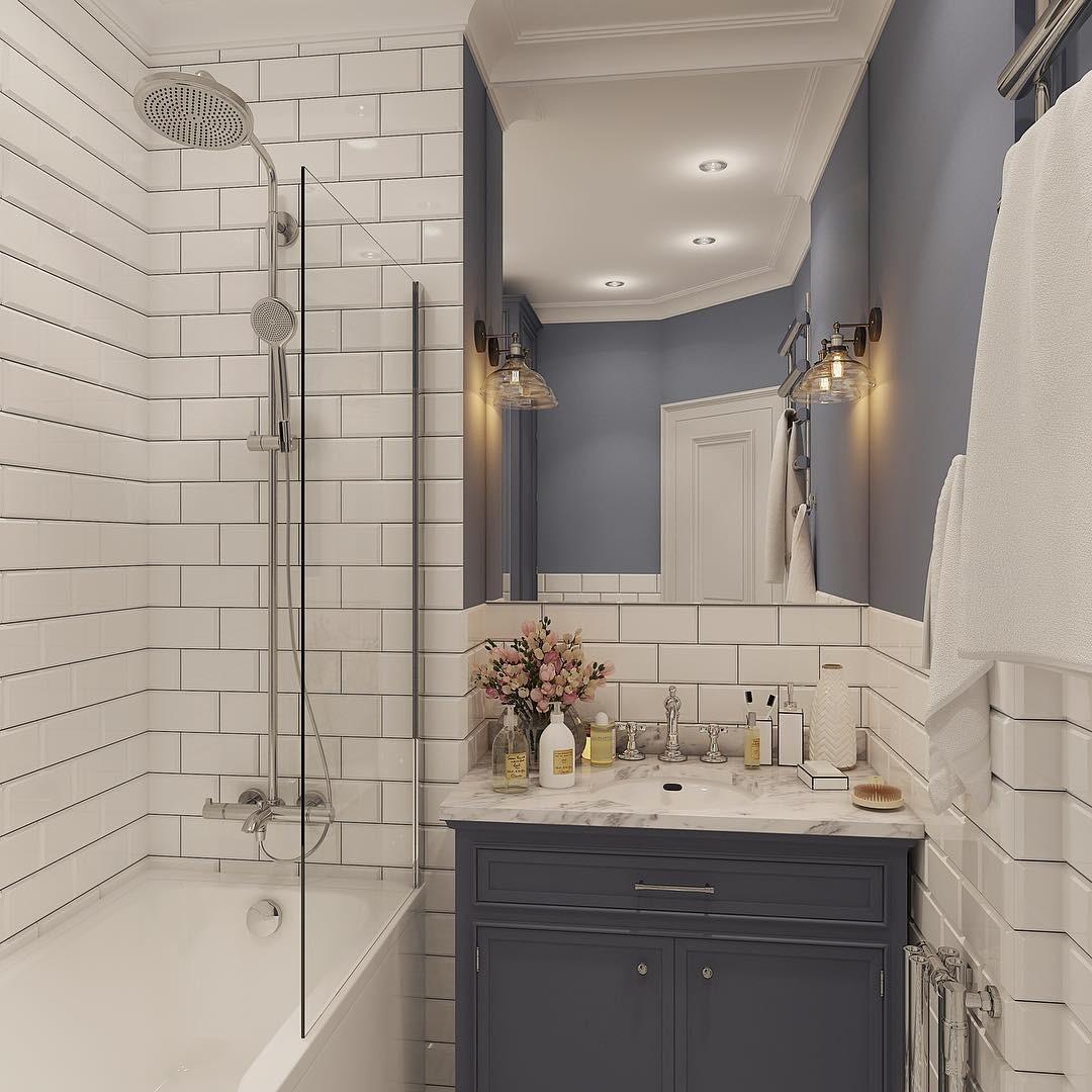 Краска и плитка в отделке ванно...