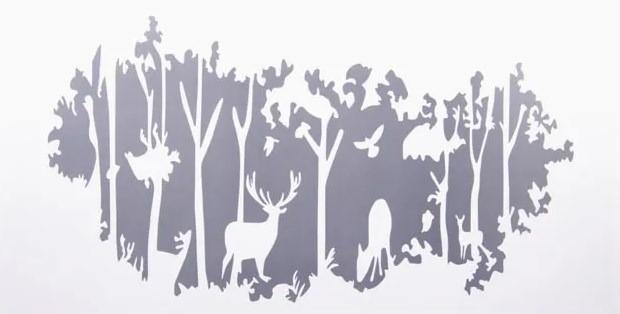 Наклейка «Зимний лес», 60 на 30 см