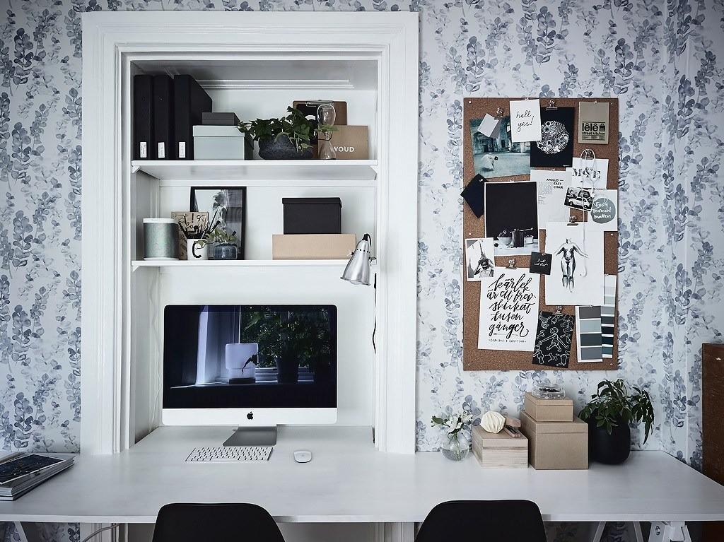 Пробковая стена, столешница-подоконник и еще 8 неизбитых идей для организации рабочего места