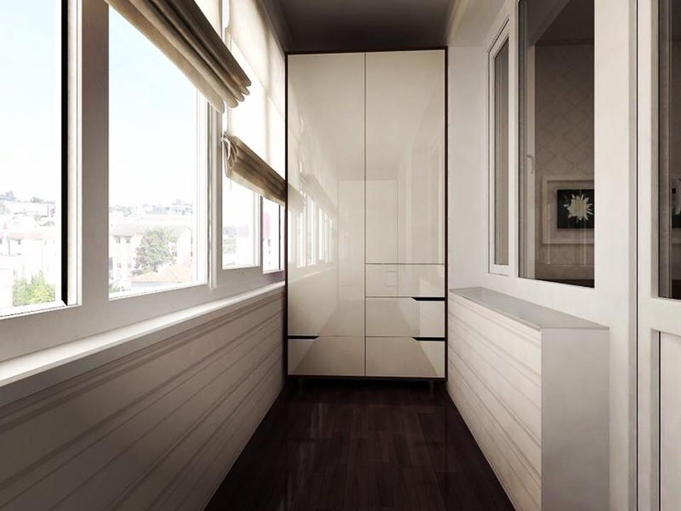 Шкафы на балкон: 50 фото удачных примеров и полезные советы по выбору