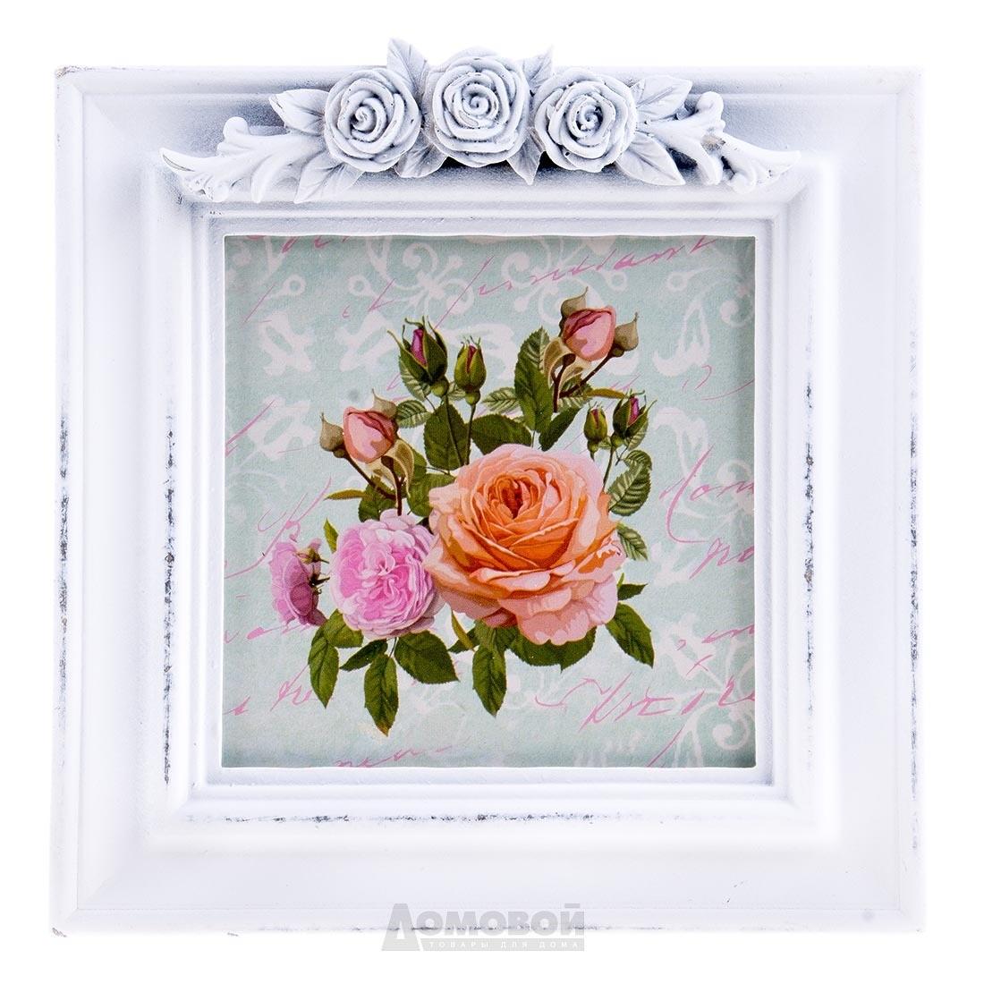 Фоторамка «Белые розы»