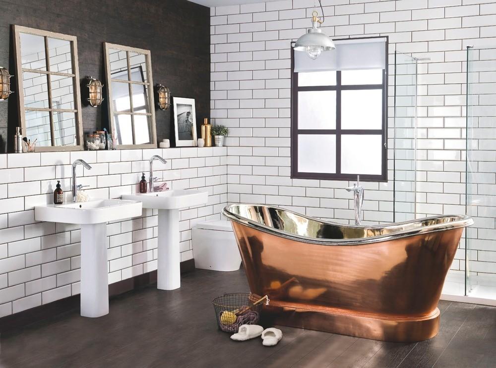 Ванная в стиле лофт: фото современных идей дизайна интерьера