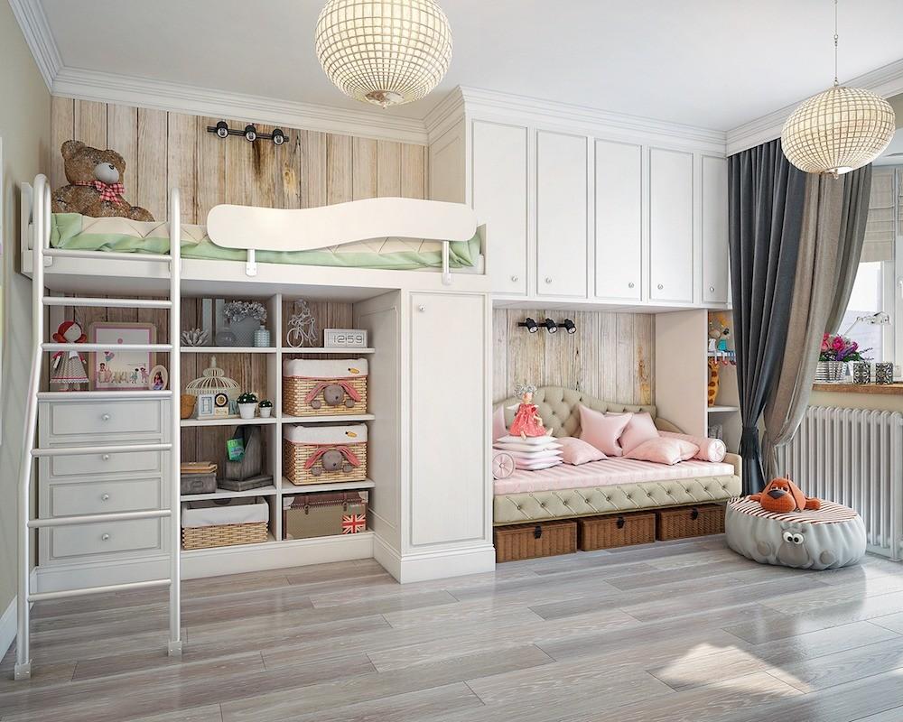 Спальня в гостиной и детская «на вырост»: двушка, ставшая трёшкой благодаря зонированию