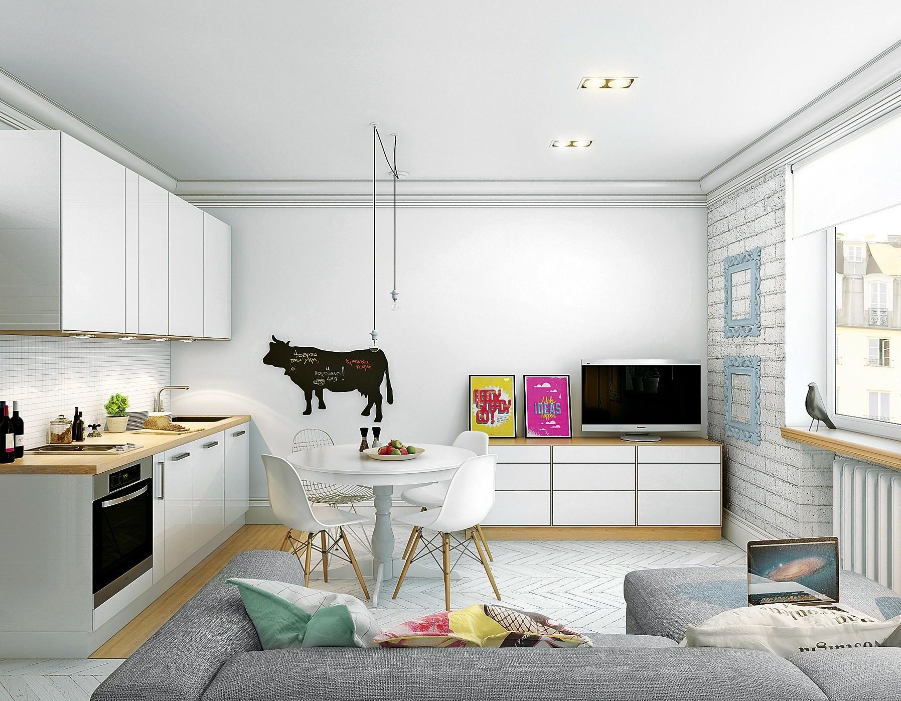 Ничего лишнего: бюджетный дизайн студии в скандинавском стиле