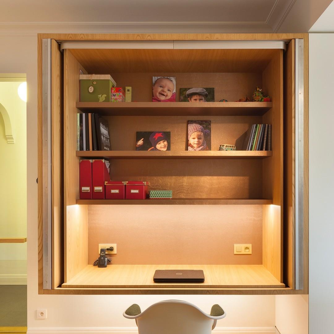 Кабинет в шкафу: 7 удивительных и вдохновляющих примеров