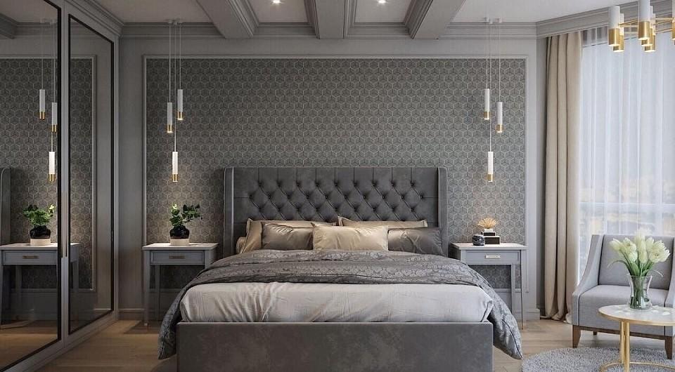 Спальня в серых тонах: дизайн и 60+ фото примеров