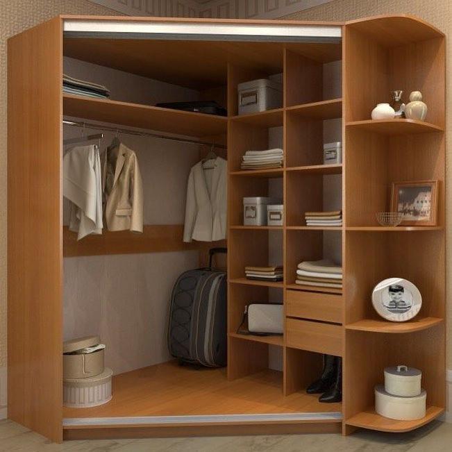 недорого угловой шкаф купе в спальню наполнение фото тонкий слой