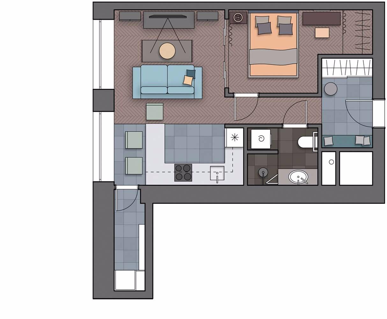 Элегантность и комфорт: маленькая квартира в духе XIX века