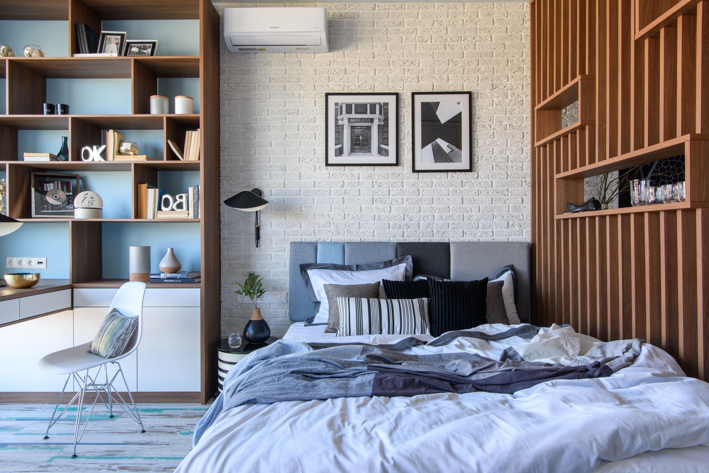 Квартира для молодой пары: стильный эколофт на месте маленькой однушки